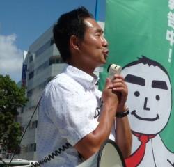 湘南台駅でも活動報告を行っています